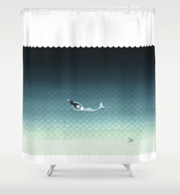 Society6 Mermaid Shower Curtain